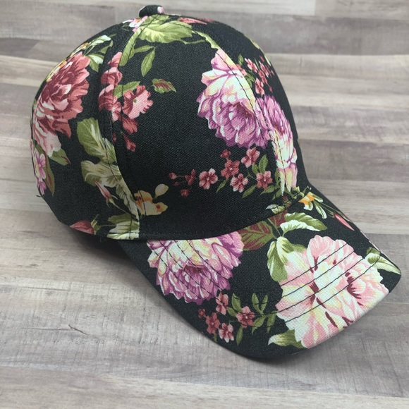 0ef61bb8f CC Floral Peony Baseball Cap Hat